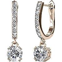 Cate & Chloe McKenzie 18k White Gold Dangling Earrings