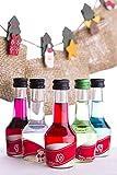 Likör Adventskalender (24 Jutesäckchen - 24 Flaschen - 24 Sorten) - 24 x 2 cl
