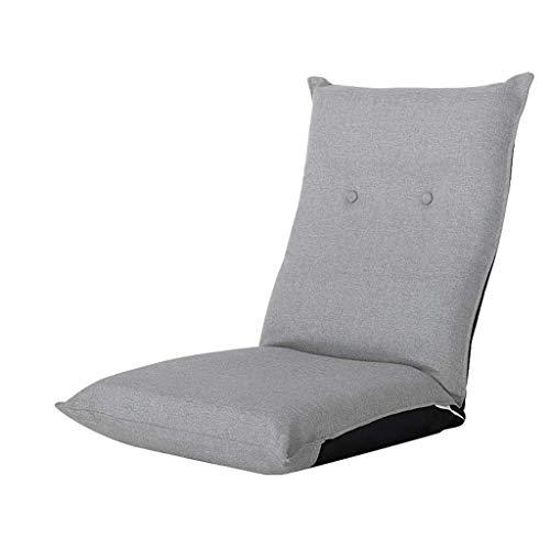 NXYJD Sofá Perezoso, Tatami Plegable Individual pequeño sofá Dormitorio Asiento Trasero Silla, algodón y Lino