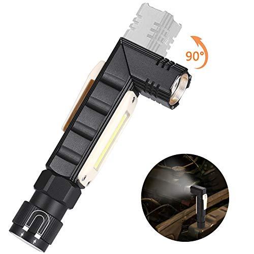 GAWAR Lámpara de Inspección Linterna de Trabajo COB LED Recargable USB Linterna de Trabajo Faroles de Mano Luz de la antorcha Linterna de Trabajo para Casa Auto Camping Emergencia Reparacion
