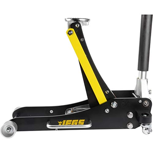 JEGS 80006 4000lb Low-Profile Aluminum Floor Jack Garage Car Truck