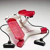 Domyos Mini Stepper Gym Ejercicio Pierna Muslo Tonificación Entrenamiento Fitness Escalera Brazo Cordón Entrenamiento Máquina De Entrenamiento De La Cuerda De Color Marfil Rosa