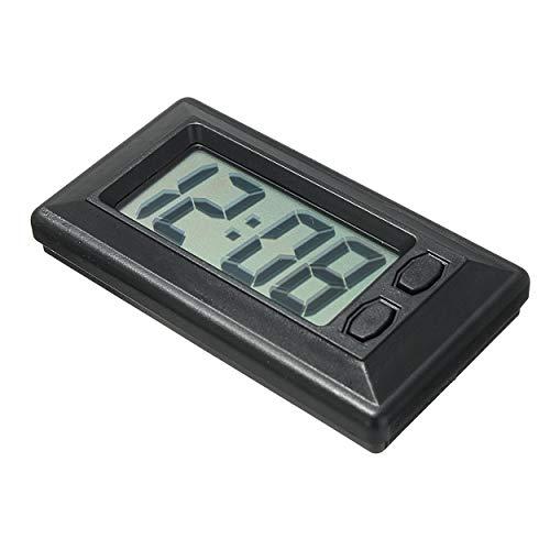 Lodenlli Ultradünne LCD-Digitalanzeige Auto-Fahrzeug-Armaturenbrettuhr mit Kalenderanzeige Mini tragbares Autozubehör