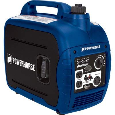 Powerhorse Portable Inverter Generator - 2000 Surge Watts, 1600 Rated Watts, CARB Compliant