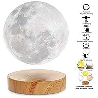 フローティング月光、 3D印刷された磁気浮上月光夜間照明、 3つのカラーモードのLEDムーンライト、 室内装飾、夜間照明、おもちゃ、誕生日、クリスマスプレゼント