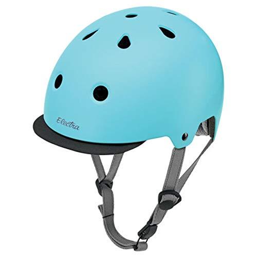 Electra Bicycle Electra Fahrrad Helm Solid Color Serie Fidlock ABS Innenpolster waschbar, EHelmetSC, Farbe Powder Blue - Matt Blau, Größe S