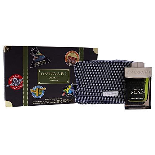 Bvlgari Man Wood Essence homme/man Duftset (After Shave Balsam,100ml+Eau de Parfum,100ml+Pouch), 300 g