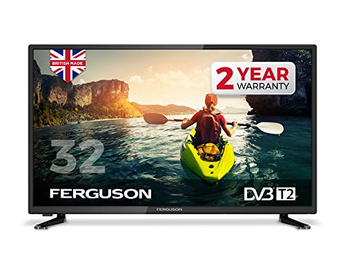 Ferguson 32 LED Digital TV with Freeview T2 HD, Black
