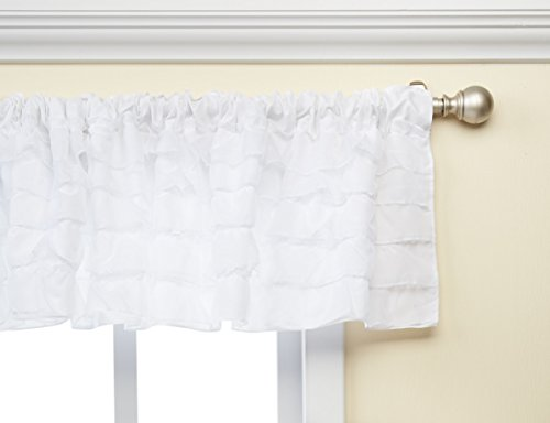 Baby Doll Layered Window Valance, White by Baby Doll
