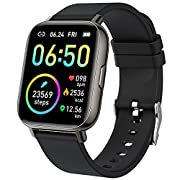 """#LightningDeal Smart Watch 2021 Ver. Watches for Men Women, Fitness Tracker 1.69"""" Touch Screen Smartwatch Fitness Watch Heart Rate Monitor, IP68 Waterproof Pedometer Activity Tracker Sleep Monitor for Android iPhone"""