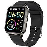 Smartwatch, 1.69' Reloj Inteligente Hombre Mujer Impermeable IP68 Pulsera Actividad 24 Modos Deporte con Pulsómetro Monitor de Sueño Monitores Actividad Cronómetros Calorías Podómetro para Android iOS