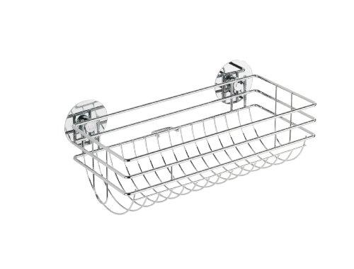 Wenko Turbo-Loc Küchenrollenhalter, Befestigen ohne bohren, 29 x 11 x 14,5 cm, silber glänzend