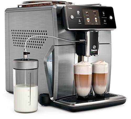 Saeco Xelsis SM7686/00 - Cafetera (Independiente, Máquina espresso, 1,7 L, Granos de café, De café molido, Molinillo integrado, Acero inoxidable)
