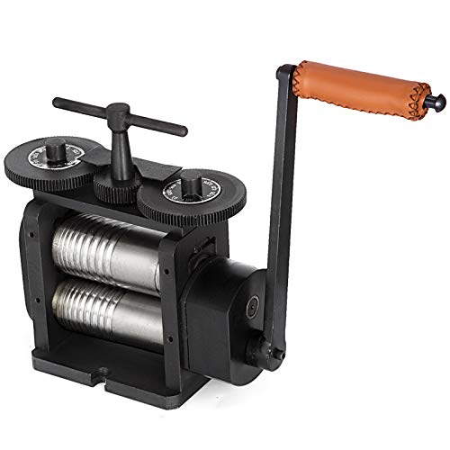 BananaB Jewelry Rolling Mill 130mm Breiter Manuell Kombination Rolling Mill 65mm Durchmesser Schmuck Tools für Schmuck und Ausrüstung, Rollenlänge