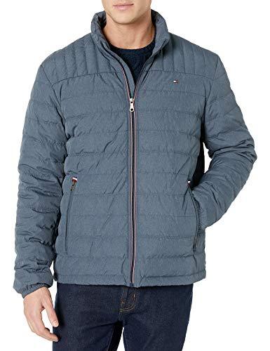 Tommy Hilfiger Herren Real Down Packable Puffer Jacket Daunenmantel, Slate, X-Large