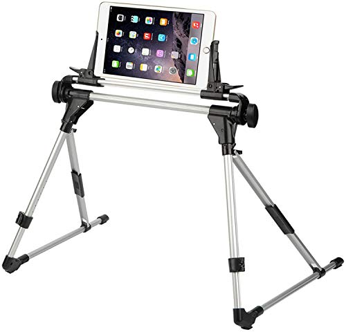 Tablet Stand,Adjustable Phone Holder,Portable Foldable Cradle for Xs XR 8 7 6S Plus,Mate8,P9 Ipad Mini2,3,4,Air2,Pro.Kindle,Phone Stand for Desk/Bed/Sofa/Bedroom/Kitchen Floor/Office (Larger-201)