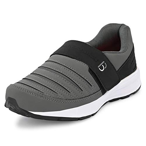 Bourge Men's Loire-63 D.Grey and Black Running Shoes -...