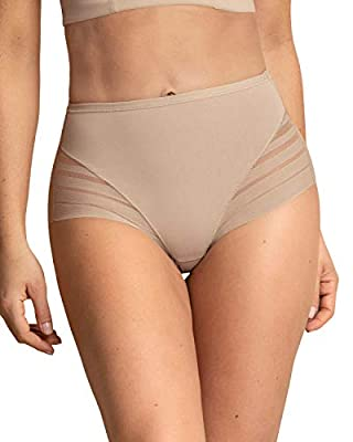 Leonisa Women's No Show Invisible Comfy Tummy Control Classic Panty,Nude,Medium