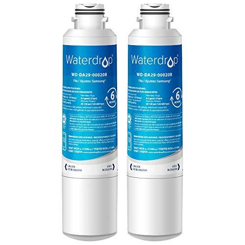 Waterdrop 2X DA29-00020B Kühschrank Wasserfilter, Kompatibel mit Samsung DA29-00020B, HAF-CIN EXP DA29-00020A DA29-00019A DA97-08006 DA97-08043ABC Kenmore46-9101 REFSVC AP5271937 HDX-FMS-2