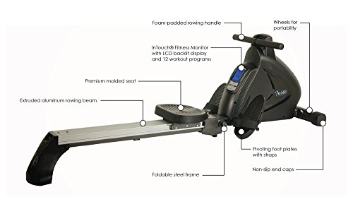 Avari A350-700 Stamina Programmable Magnetic Exercise Rower, 81