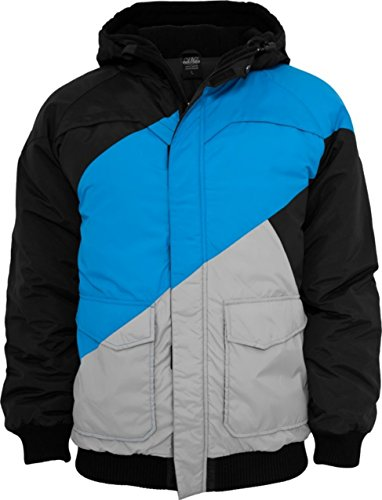 Urban Classics Herren Zig Zag Fastlane Jacke , Größe:L;Farbe:black/turquoise/grey