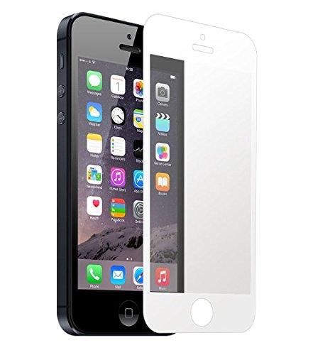 Vanki Pellicola Protettiva Vetro Temperato Screen Protector Film Ultra Resistente (HD Alta trasparente) per iPhone 5S / 5 / SE / 5C (1-Pack, bianco)