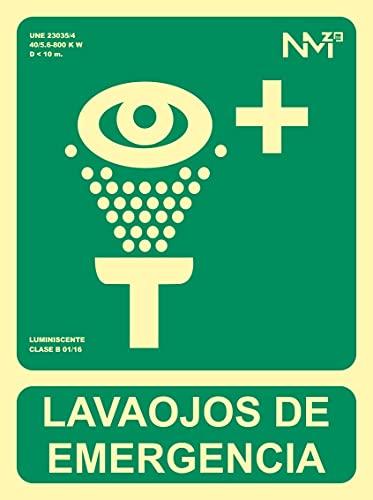 Normaluz RD14109 - Señal Luminiscente Lavaojos De Emergencia Clase B PVC 0,7mm...