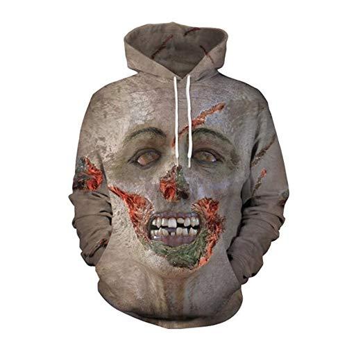 MICOKY Hoodie Festival Kostüm Europa COS Horror 3D Digital Print Langarm Rollkragen Beiläufige Beiläufige Hoodie Sweater