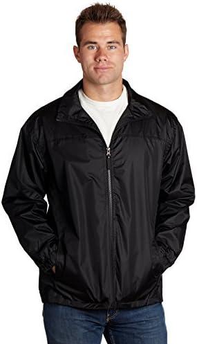 eb79 Men's Black Windbreaker Jacket
