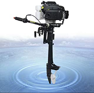 N-A HANGKAI 4HP 4 Stroke Outboard Motor 52CC Engine Fishing Inflatable Boat Engine Short Shaft CDI Air Cooling
