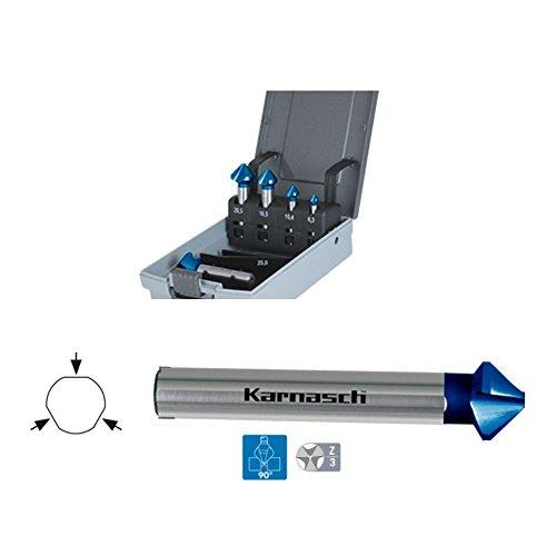 Set Kegelsenker, Karnasch, Din335, Hartmetall + BLUE-TEC, RAPID-CUT, HSS-XE blue - 90° 6.3, 10.4, 16.5, 20.5, 25mm