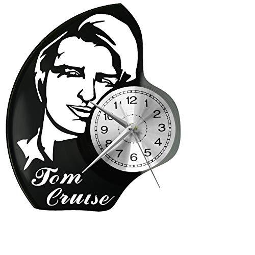 Tom Cruise - Reloj de pared de vinilo, diseño retro
