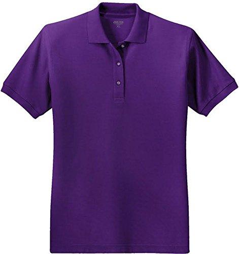 Joe's USA(tm Ladies Short Sleeve Polo Shirt-Purple-2XL