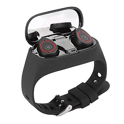 Weikeya Conveniente Bluetooth Auriculares Reloj, 1.14 Pulgada Tft Litio Batería 301217 135 X 240 Reloj Pulsera con Abdominales por Androide