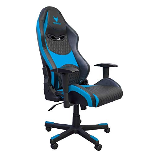 SPARKFOX Pro Gaming Chair for PC, Console, Racing 2D Armrests 4 Colors, Class 4 Gas Lift, Backrest Tilt 180°, Butterfly Mechanism Perfect for Gaming and Office use (Blue & Black)