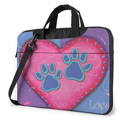 Laptop Case, Dog Animal Pet Paw Print Laptop Shoulder Bags Multi-Functional Notebook Sleeve,13-14-15.6 Inch