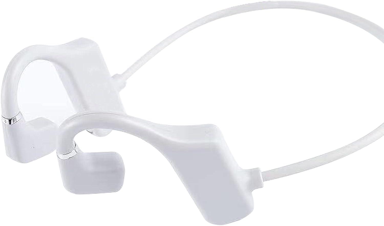 OCUhome Bone Conduction Headphones, Open Ear Headphones, G1 Bluetooth 5.1 Earphones IPX6 Waterproof 3D Surround Sound ABS Practical Wireless Bone Conduction Headsets for Sports White