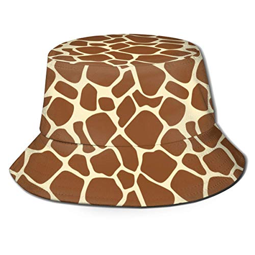 Gorras Piel de Jirafa marrón Sombrero de Pescador Sombrero de Cubo Sombreros para jóvenes Summer Fisher Outdoor Sun Beach Cap