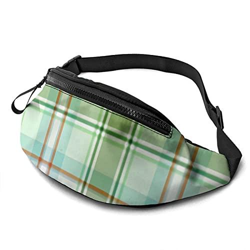 mengmeng Cinturón de cintura con diseño de cuadros de menta y alcachofa, para correr, para hombres y mujeres, unisex