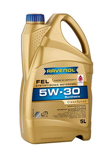 RAVENOL FEL SAE 5W-30 / 5W30 Mid SAPS Synthetisches Motoröl, DPF geeignet, JASO DL-1 (5 Liter)