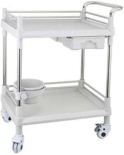 Preisvergleich Produktbild CART Medizinische Haushaltswagen Handlastwagen Krankenpflege Schönheitswagen Friseurarbeit Regal Medizinische Materialbehandlung Auto Dental Oral Clinic, M-64.5X44.5X90cm