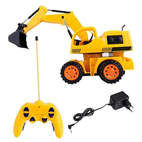 RC Auto kaufen Baufahrzeug Bild 5: Dilwe RC Bagger, 5CH Full Functional Fernbedienung Bagger Baufahrzeug Bagger Traktor*