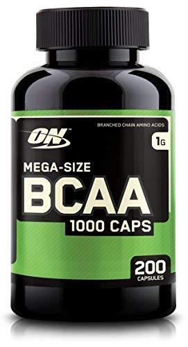 Optimum Nutrition ON BCAA 1000, Cápsulas BCAA, Suplementos Deportivos, Rico en Aminoacidos Ramificados y Esenciales, para mejor recuperación, sin sabor, 100 porciones, 200 Cápsulas