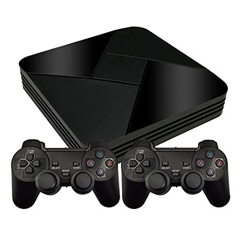 Morton3654Mam Powkiddy B-01 GameBox - Consola de videojuegos con 40.000 juegos y 2 juegos inalámbricos para TV, sistema Android abierto con tarjeta TF de 128 GB