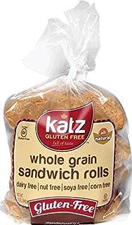 Katz Gluten Free Whole Grain Sandwich Rolls   Dairy, Nut, Soy and Gluten Free   Kosher (1 Pack of 1 Loaf, 11 Ounce)