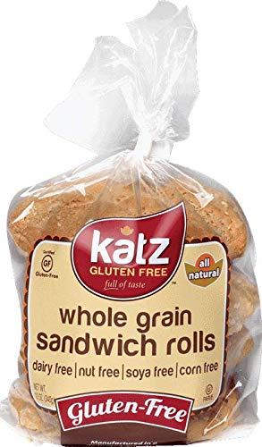 Katz Gluten Free Whole Grain Sandwich Rolls | Dairy, Nut, Soy and Gluten Free | Kosher (1 Pack of 1 Loaf, 11 Ounce)