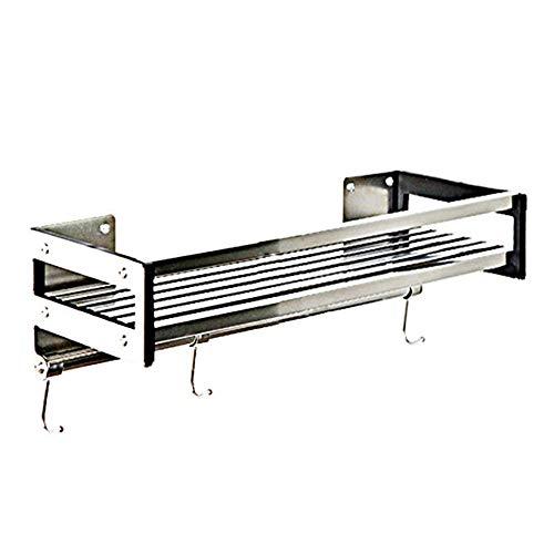 WJJH Keukenrek kruidenrek plank aan de muur gemonteerde kruidenrek badkamer balkon afwerking, nagelvrije lijm/punch, roestvrij staal