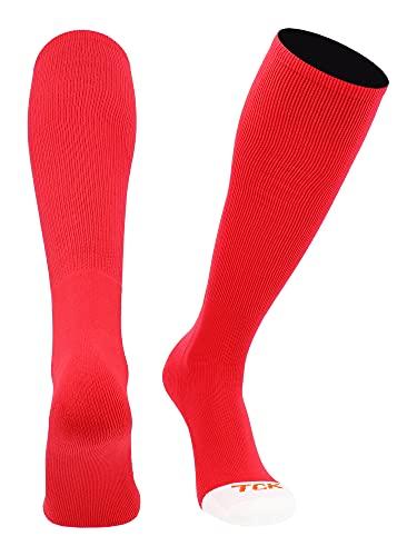 TCK Prosport Performance Tube Socks (Red, X-Large)