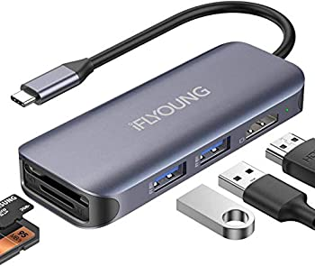 Iflyoung USB C to Hdmi 4k 3.0 MacBook pro USB Docking Station