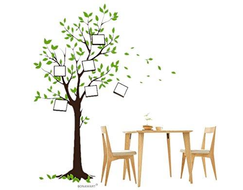 BONAMART Wünschen Baum Fotorahmen Wandtattoo Kinderzimmer Schlafzimmer Wohnzimmer JM7124
